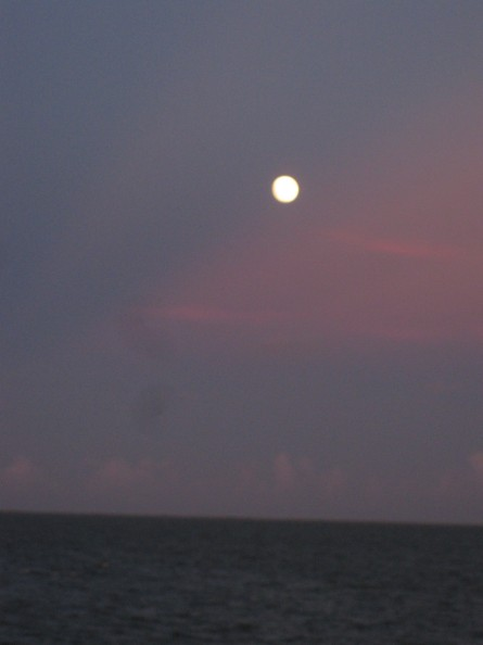 Full moon over Copano Bay, Rockport, TX